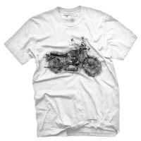 Fifty5 Clothing - Vintage Bike Sketch Men's T Shirt - White