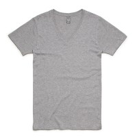Fifty5 Clothing - Mens Luxe V Neck T-Shirt - Athletic Heather
