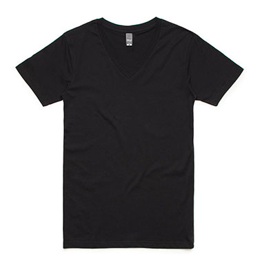 Fifty5 Clothing - Mens Luxe V Neck T-Shirt - Black