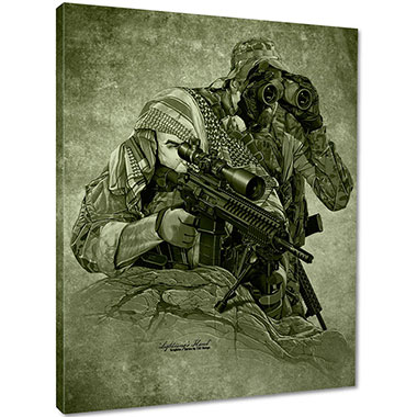 7.62 Design - Lightning's Hand Canvas Print