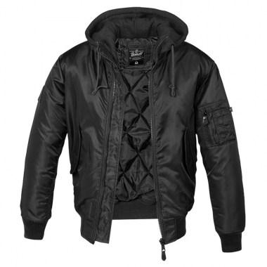 Brandit - MA1 Sweat Hooded Jacket - Black