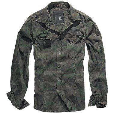 Brandit - SlimFit Shirt - Woodland