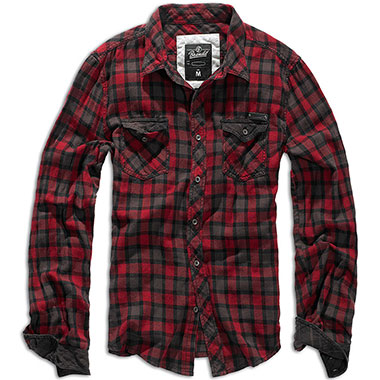 Brandit - Checkshirt Duncan - Red-Brown
