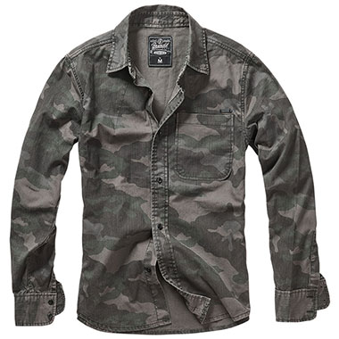 Brandit - Josh Shirt camo - Dark camo