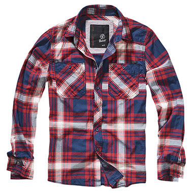 Brandit - Checkshirt Slim Fit - Choco-Red