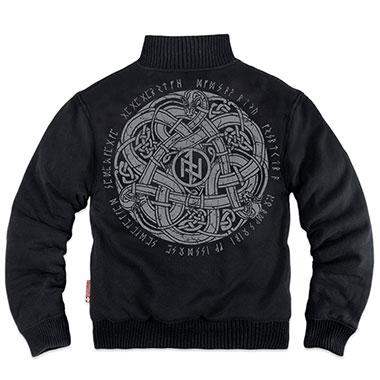 Dobermans - Celtic III classic zipped sheepskin sweatshirt - Black