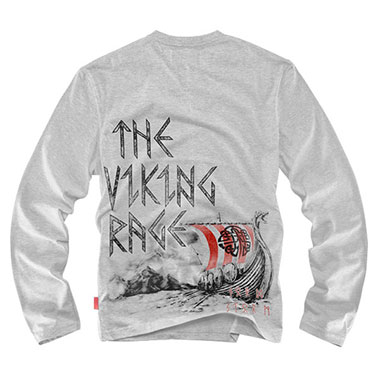 Dobermans - Longsleeve Viking Drakkar - Grey