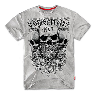 Dobermans - Viking T-shirt TS56 - Grey