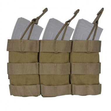 Emerson - Modular Triple Open Top Magazine Pouch - Khaki