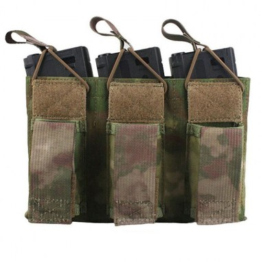Emerson - 5.56&Pistol Triple Open Top Magazine Pouch - A-tacs FG
