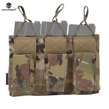Emerson - 5.56&Pistol Triple Open Top Magazine Pouch - Multicam