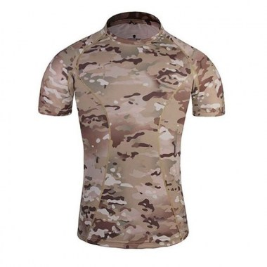Emerson - Skin Tight Base Layer Camo Running Shirts - Multicam
