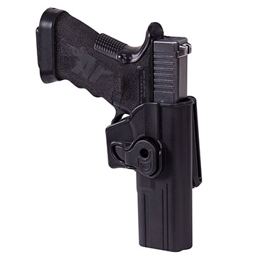 Helikon-Tex - Release Button Holster for Glock 17 with Belt Clip - Military Grade Polymer - Black