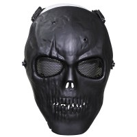 Max Fuchs - Face Mask skull deco full protection - Black