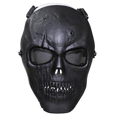 Max Fuchs - Face Mask skull deco full protection - Black