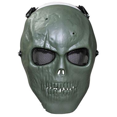 Max Fuchs - Face Mask skull deco full protection - OD green