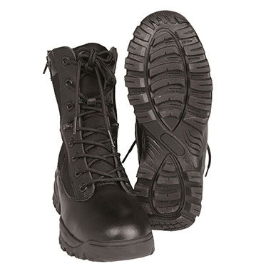 Sturm - Black Tactical Boots With YKK Zipper