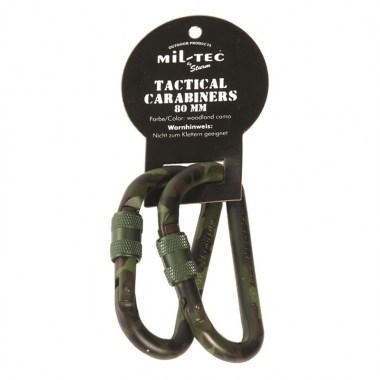 Sturm - Woodland 80mm Tactical Carabiner (pair)