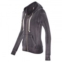 MV Sport - Women's Angel Fleece Sanded Full-Zip Hooded Sweatshirt - Graphite