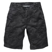 Vintage Industries - Batten shorts - Grey Print