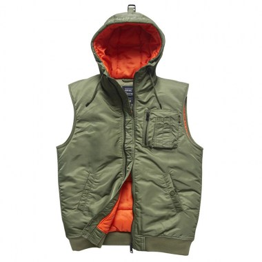 Vintage Industries - Smith bodywarmer - Olive Sage