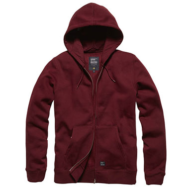Vintage Industries - Redstone hooded sweatshirt - Cranberry