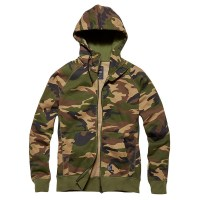 Vintage Industries - Basing hooded sweatshirt - Woodland Camo