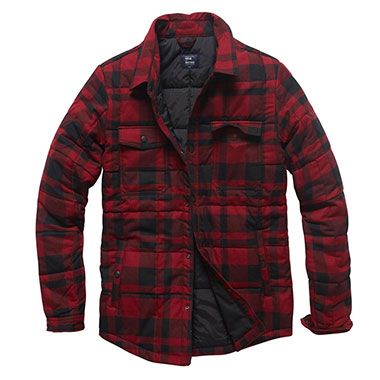 Vintage Industries - Square padded shirt - Red Check