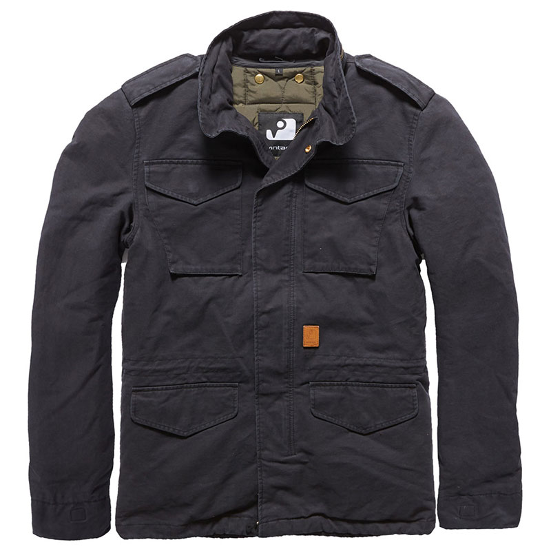 Vintage Industries - Dave M65 jacket - Off Black
