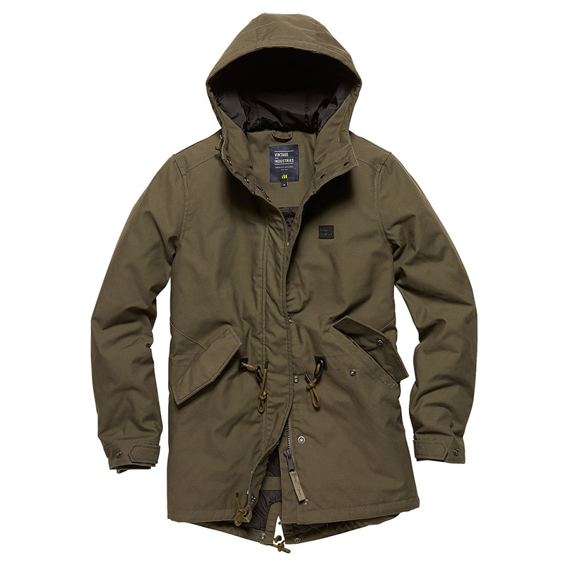 Vintage Industries - Indy ladies parka - Dark Olive
