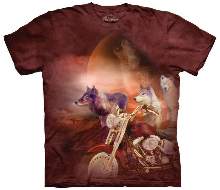 The Mountain - Motorcycle Wolfpack T-Shirt