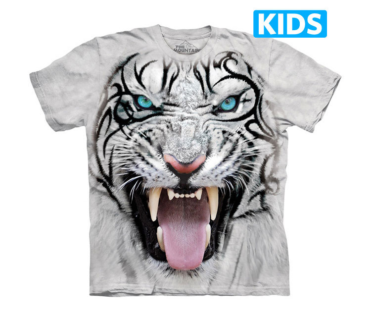 The Mountain - Big Face Tribal White Tiger Kids