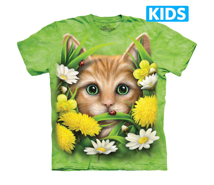 The Mountain - Kitten in Springtime Kids T-Shirt