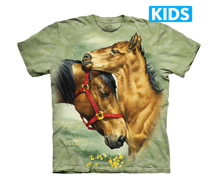 The Mountain - Meadow Horses Kids T-Shirt