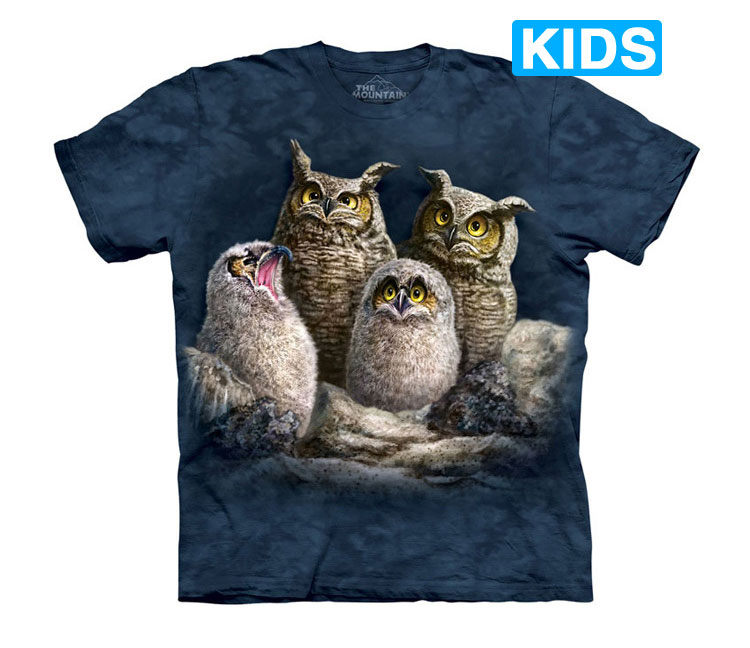 The Mountain - Owl Family Kids T-Shirt