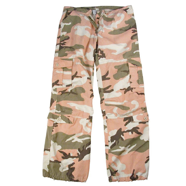 Rothco - Womens Camo Vintage Paratrooper Fatigue Pants - Subdued Pink Camo
