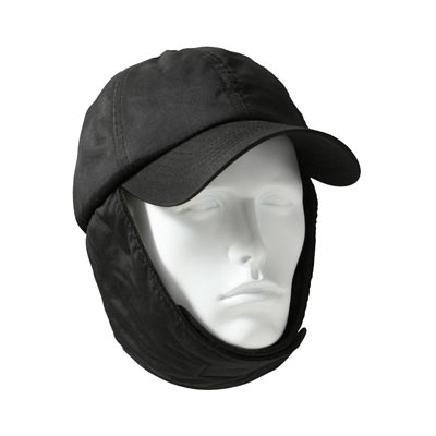 Rothco - Black Cold Weather Cap With Ear Flaps