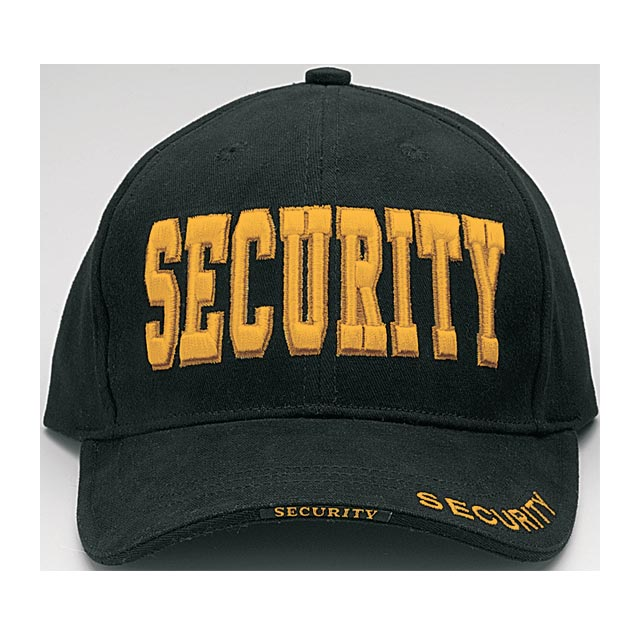 Rothco - Deluxe Black Security w Gold Low Profile Insignia Cap