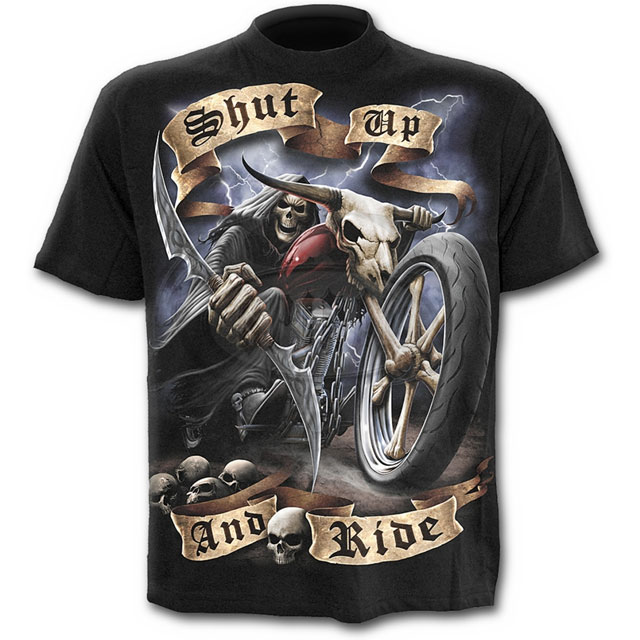 Spiral Direct - SHUT UP AND RIDE T-Shirt Black