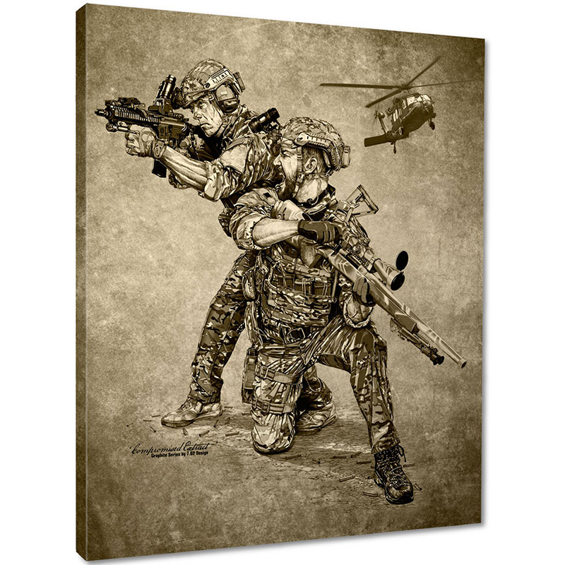 7.62 Design - Compromised Extract Canvas Print