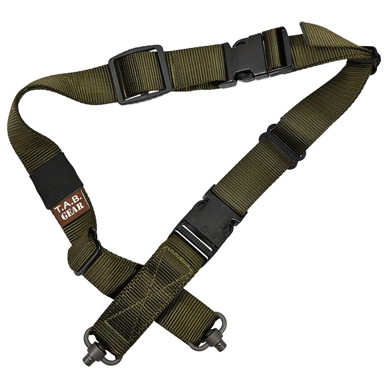 Tab Gear - CAD Rifle Sling With Fastex Buckles-QD Push Button - Olive Drab Green