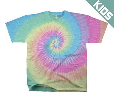 Детская футболка Liquid Blue - Pastel Spiral Youth Tie-Dye T-Shirt