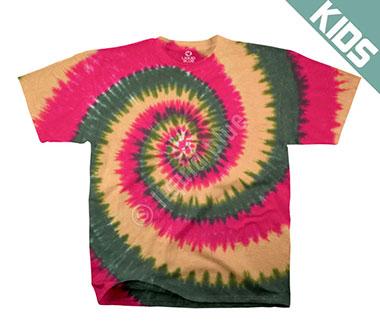 Детская футболка Liquid Blue - Rasta Spiral Youth Tie-Dye T-Shirt