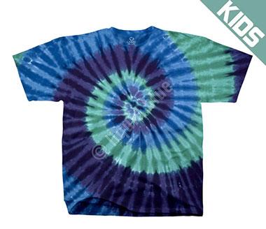 Детская футболка Liquid Blue - Cool Spiral Youth Unprinted Tie-Dye T-Shirt