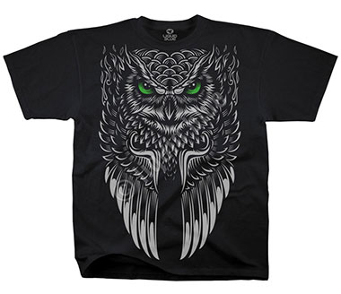 Футболка Liquid Blue - Owl Black T-Shirt