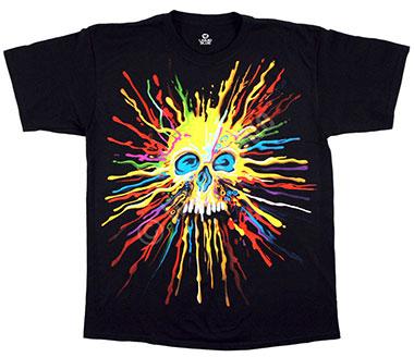 Футболка Liquid Blue - Neon Skull Black T-Shirt