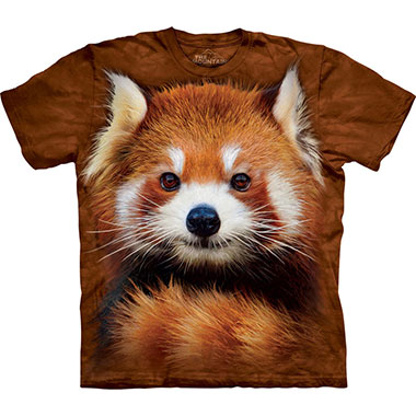 The Mountain - Red Panda Portrait T-Shirt