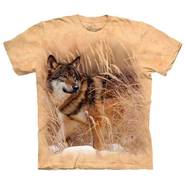 The Mountain - Winter Wolf Portrait T-Shirt