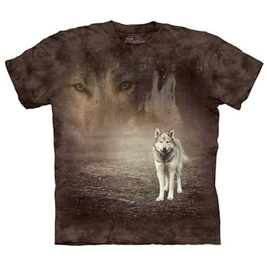 The Mountain - Grey Wolf Portrait T-Shirt