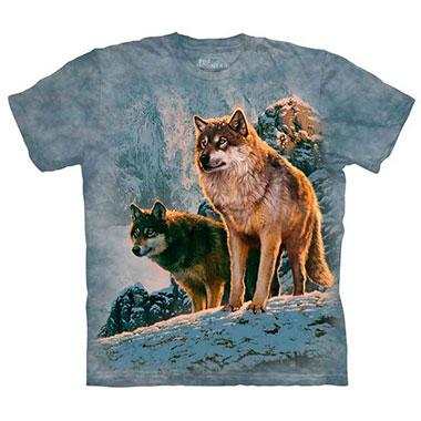The Mountain - Wolf Couple Sunset T-Shirt
